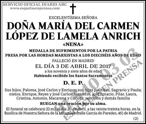 María del Carmen López de Lamela Anrich